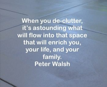 Lots of great organizing tips from Peter Walsh's Facebook page.