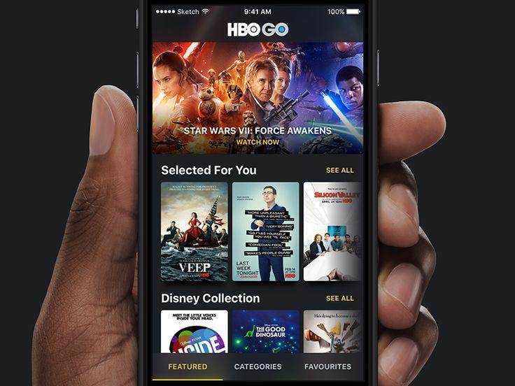 HBO GO  iPhone App Redesign Concept by Pawel Szymankiewicz