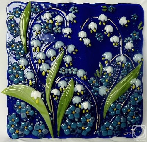 Lily of the Valley Glass Wall Tile ~ Just Like It