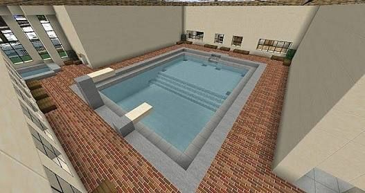 Minecraft indoor pool                                                                                                                                                      More