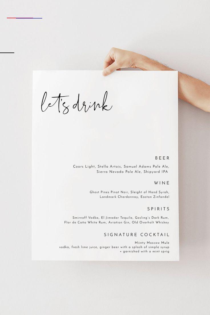 Adella Moderne Hochzeit Bar Menuvorlage Minimalistische Bar Menu Hochzeit Zeichen Templett Hochzeit In 2020 Bar Menu Wedding Wedding Drink Sign Wedding Drink Menu
