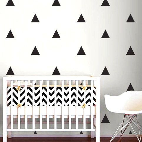 Triangle wall decals great to decorate your nursery, bedroom, or living room…