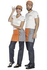 PAGAMENTO ANCHE ALLA CONSEGNA Grembiule Corto Uomo Donna da Lavoro Cuoco Chef Alimentare Abbigliamento Abiti