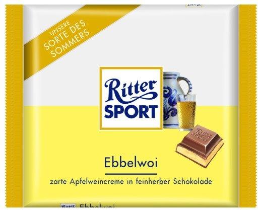 """RITTER SPORT Fake Schokolade Ebbelwoi (""""Apfelwein"""")"""