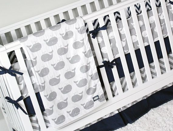 Hey, I found this really awesome Etsy listing at https://www.etsy.com/listing/271068942/boy-crib-bedding-whale-baby-bedding-crib