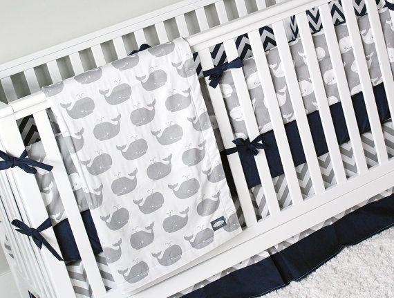 Hey, I found this really awesome Etsy listing at https://www.etsy.com/listing/271068942/boy-crib-bedding-whale-baby-bedding-crib
