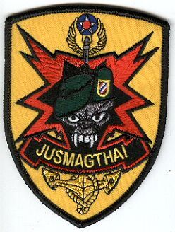 1st Special Forces Group Pocket Patches MTT - Thailand Joint US Military Assistance Group - Thailand Thai Manufacture