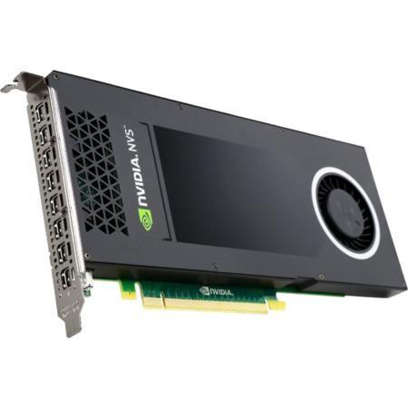 Pny NVS 810 VCNVS810DP-PB  — 61540 руб. —  NVIDIA NVS 810 графическая плата обеспечивает уникальные возможности подключения дисплеев, экономически эффективное масштабирование и управление изображением, которая позволяет легко управлять любым видом мульти-дисплей решений Digital Signage. Это первая в своем роде, предоставляющая возможность одновременно отображения с 8 выходов, карта основанная на передовой GPU архитектуре - в однослотовом форм-факторе. NVS 810 также идеально подходит для…