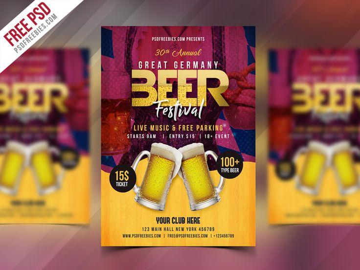 Freebie : Beer Festival Flyer Free PSD Template by PSD Freebies