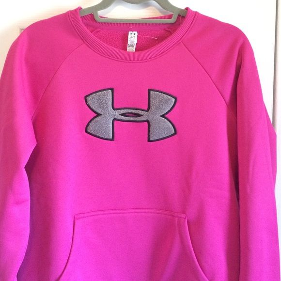 "WEEKEND SALEUnder Armour sweatshirt Semi fitted sweatshirt to keep you warm and dry! New with tags. Never worn. Pink color with gray under armour symbol on the front. Pockets on the front as well. 21"" across. 25"" top to bottom. Under Armour Tops Sweatshirts & Hoodies"