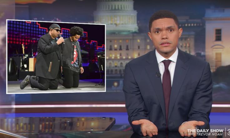 """""""When is the right time for black people to protest?"""" That's the questionTheDaily Show's Trevor Noah asked Monday night."""