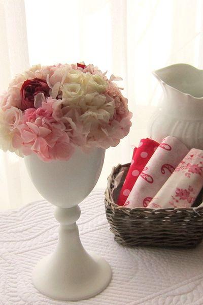Preserved flower arrangement Pink プリザーブドフラワー アレンジメント ピンク http://www.fleuriste-glycine.jp/