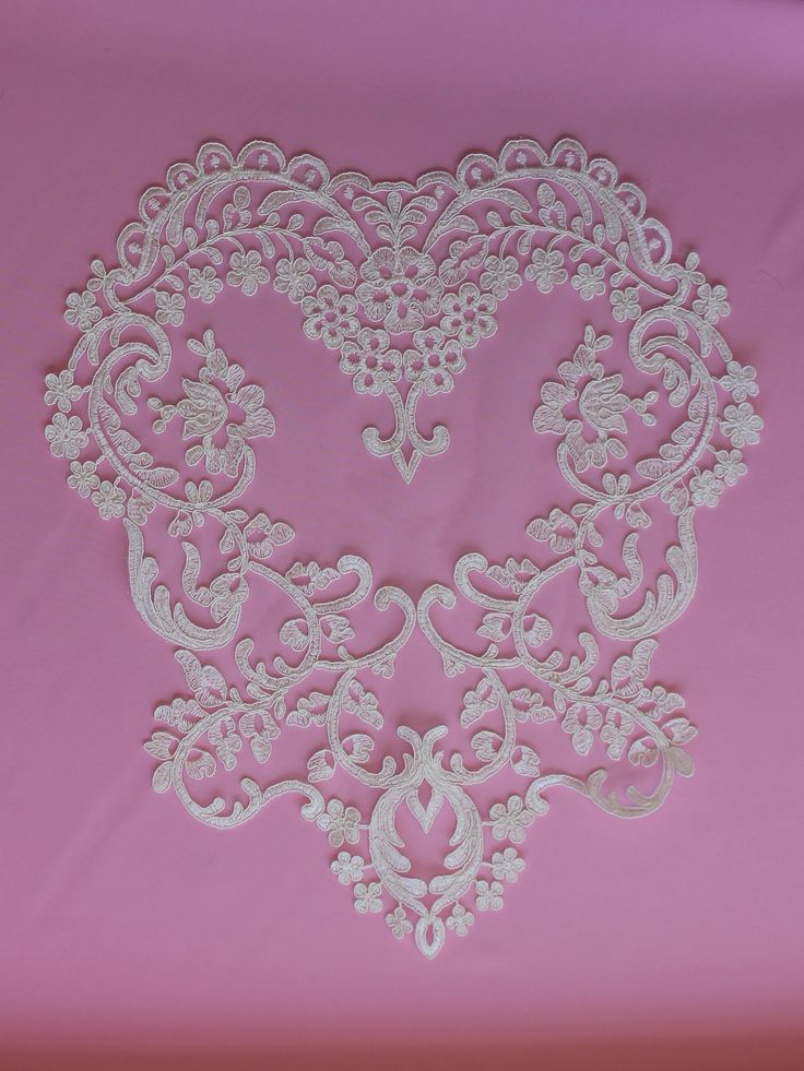 Ivory Corded Lace Applique - Snowdrop