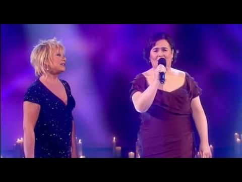 Susan Boyle performs Duet with Elaine Paige 12/13/09...This is the Performer she most wanted to emulate.