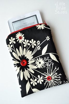 how to sew a nook or kindle case {tutorial} | Little Birdie Secrets
