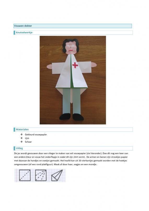 Knutselen beroepen - dokter ~ Juf Milou: