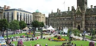 Bradford Town Hall square, now changed