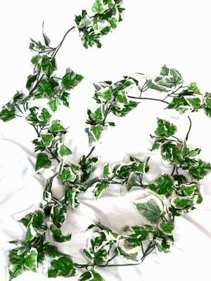9 Foot Artificial Ivy Garland Variegated  ~ Lots of leaves £4.50