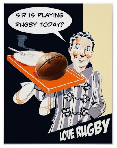Sir Is Playing Rugby Today? - Poster. One for the rugby enthusiast. Printed on quality poster paper. (Semi-Gloss) http://www.zazzle.com/sir_is_playing_rugby_today_poster-228119433587130851 #rugby #poster #print #humor #giftideas #rugbyunion