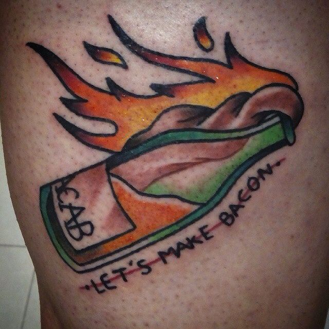 Let's make bacon acab tattoo