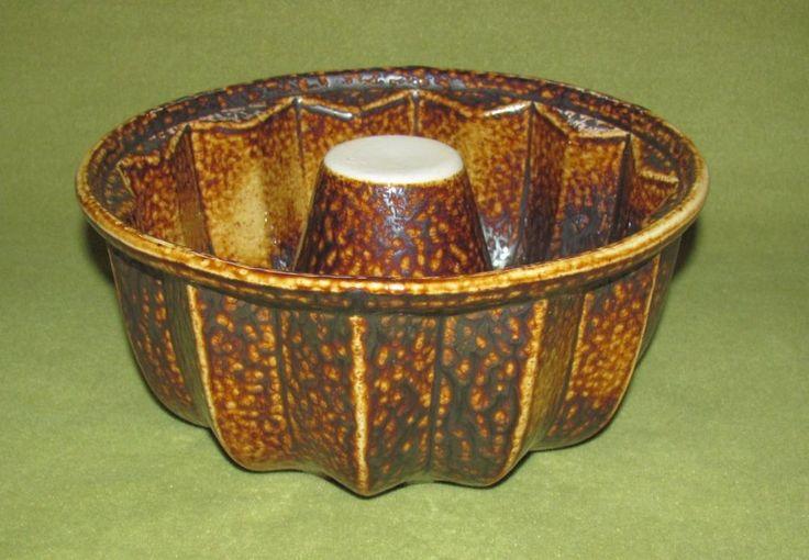 Denk Keramik 1983 Kuchenform; Braun Töne