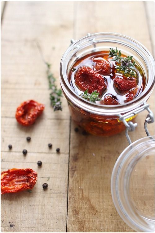 Tomates confites maison: