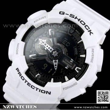 BUY Casio G-Shock Black and White Analog Digital Display Watch GA-110GW-7A, GA110GW - Buy Watches Online | CASIO NZ Watches