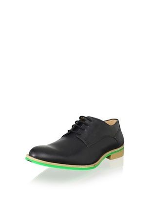 JD Fisk Men's Callum Oxford (Black Leather)