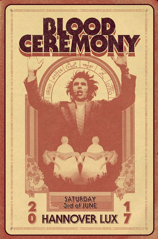Blood Ceremony gigposter. Design by Peter Möller | PM artwork.