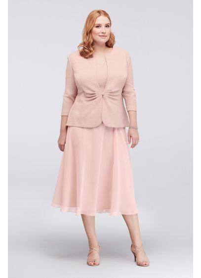 Popover Glitter Jacquard Plus Size Jacket Dress 4258421 | Styles for ...