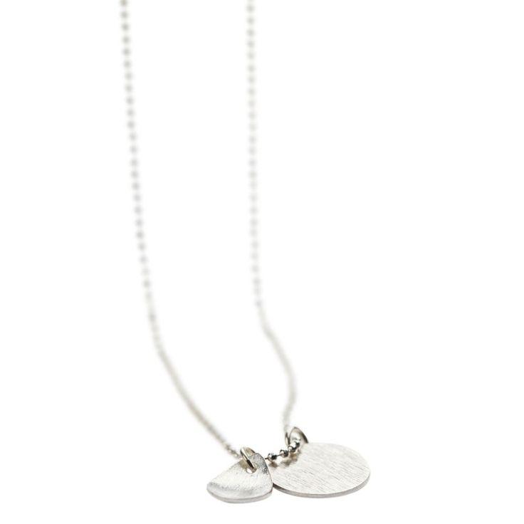 Pernille Corydon, Coin & Filled Drop Halskæde, Sølv, 80 cm Kæde