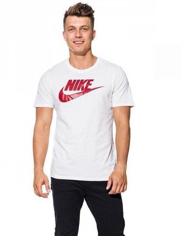 0c777f2cd519 Nike Futura Icon Men s T-Shirt Size XL White Red Roundneck  Nike   GraphicTee  TShirts