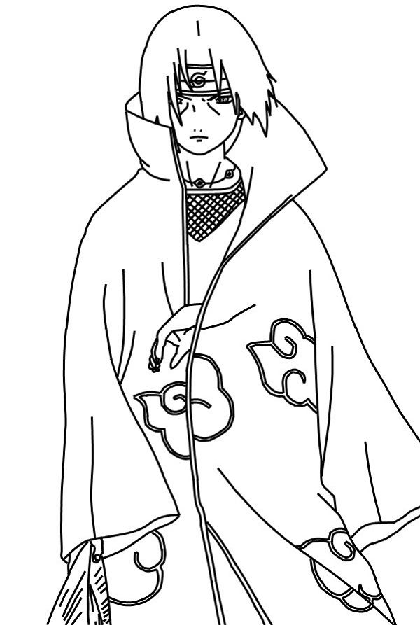 naruto itachi coloring pages naruto itachi coloring pages - Naruto Coloring Pages