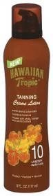 Hawaiian Tropic Tanning Creme Lotion SPF 10: 6 OZ by Hawaiian Tropic. $10.81. Made With Exotic Island Botanicals.. For Luxurious Moisturization.. Leaves Your Skin Feeling Soft & Radiant.. Water-Resistant Formula.. Infused With Shea, Cocoa And Mango Butters.. A warm sun, island breezes, luxuriant crème lotions and a heavenly scent-Hawaiian Tropic Crème Lotion is infused with soothing exotic island botanicals and skin-nourishing antioxidants and is very water resistant. Pr...