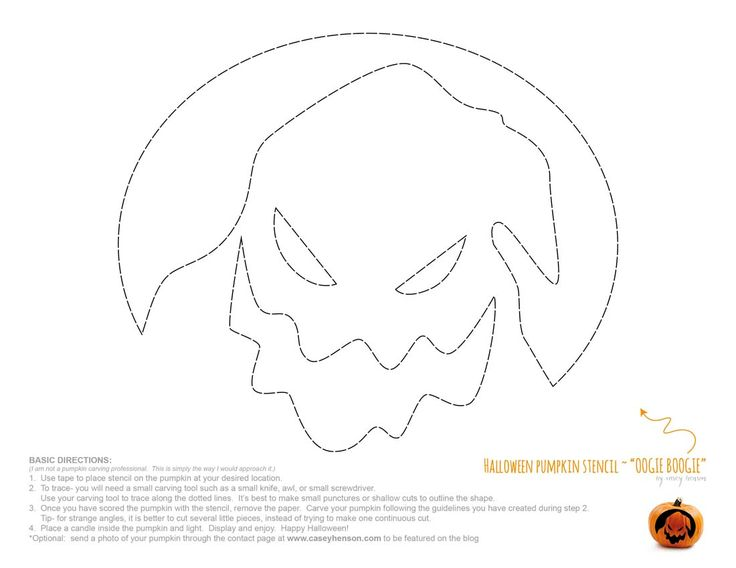 Casey Henson - Blog - Halloween Pumpkin Carving Stencils: The Nightmare BeforeChristmas