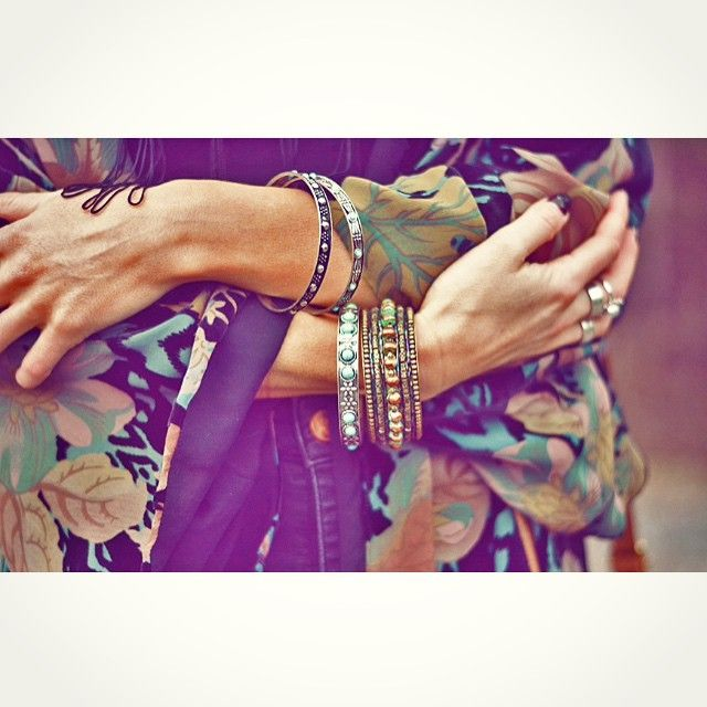 Details! Bracelets Topshop & H&M, kimono Zara #lindahstyle