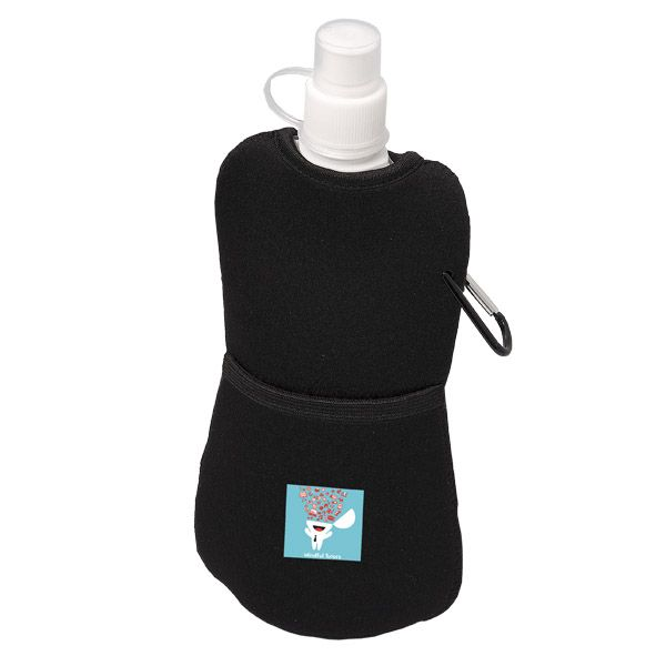 400mL (13.5 oz) Neoprene Pouch Water Bottle (From $4.08) - Includes matching carabineer. Need we say more?! BPA free and FDA compliant, too!