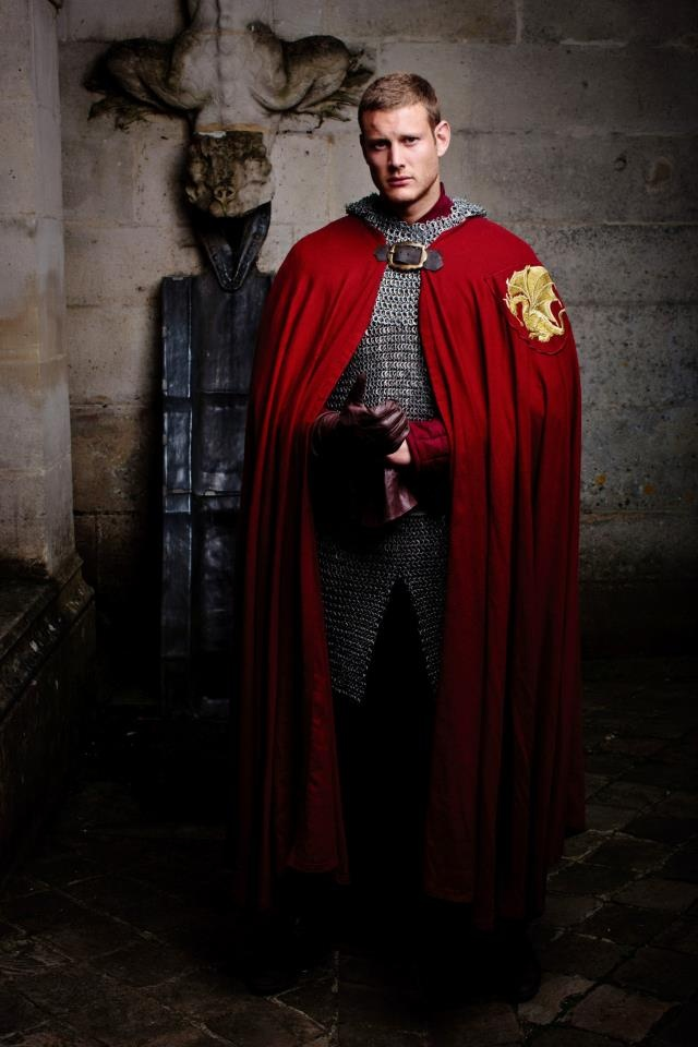 Tom Hopper as Sir Percival. Love the armour in the programme!