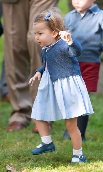 Princess Charlotte of Cambridge attends a children's party for Military families during the Royal Tour of Canada on September 29 2016 in Victoria...