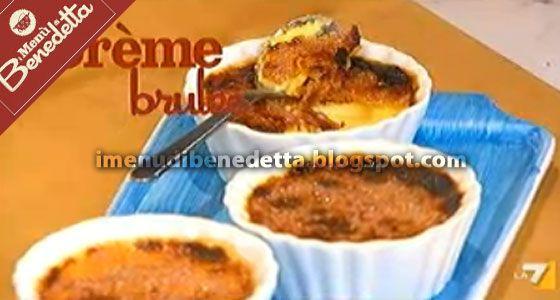 Creme Brulee | la ricetta di Benedetta Parodi ---Ingredienti 4 persone--- 250 ml di panna 1 busta di vanillina 4 tuorli 80 gr. di zucchero zucchero di canna qb
