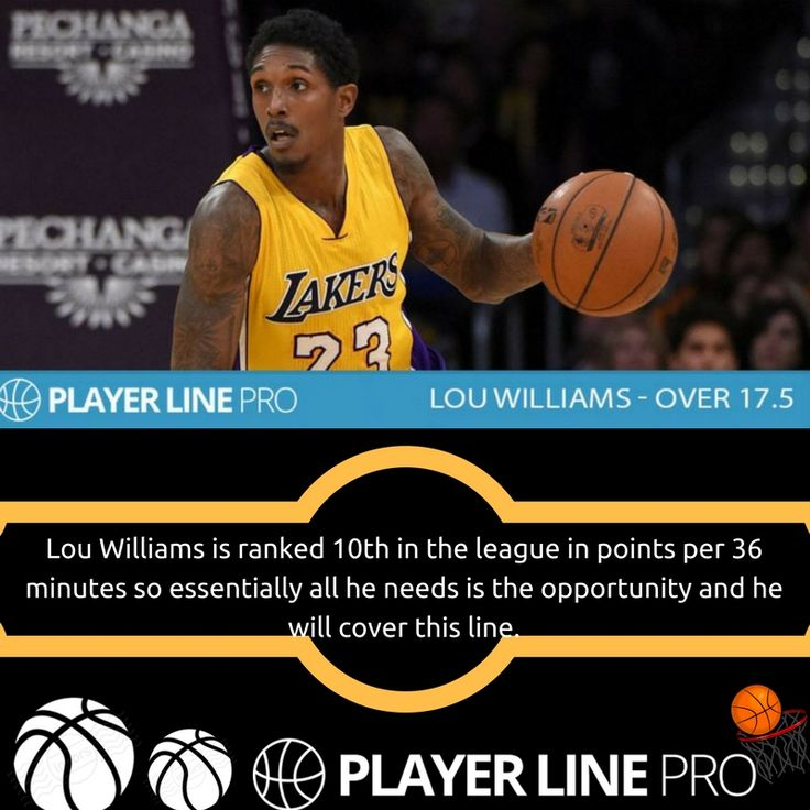 Louis Williams is an American professional basketball player for the Los Angeles Lakers of the National Basketball Association. For more information, visit PLayer Line Pro. #NBADailyPicks #NBAdailytips #LineMovement #PlayerLinePro