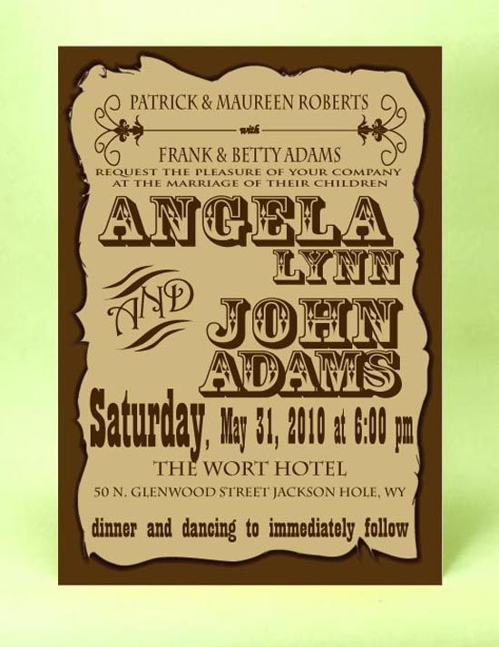 161 Best Images About Cowboy Wedding Invitations On