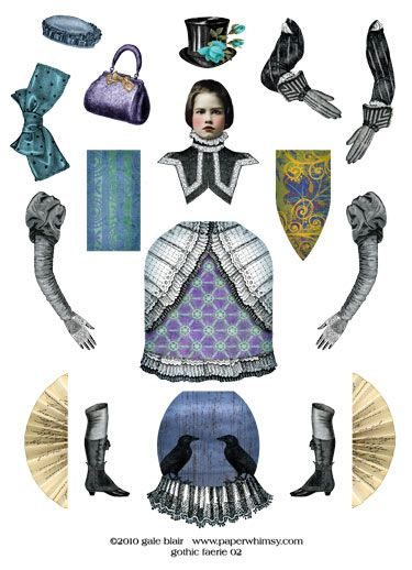 Gothic Faerie http://www.pinterest.com/pearlswithplaid/paper-dolls-for-real/