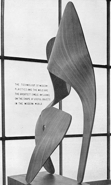 Ray Eames Sculpture on display in 1944 at the Museum of Modern Art, NYC
