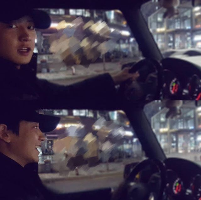 Handsome driver  #20171129 #chanyeol #exo