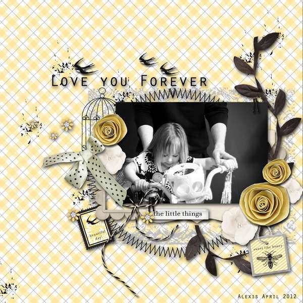 WendyGirl's digital scrapbook layouts.