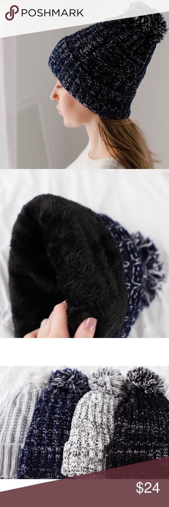 🆕High Line Plush Lined Hat 🌟Buyer favorite🌟 I am happy to bring back my plush lined hats this winter in new colors!  Marled navy/white knit, the interior has black furry plush lining which is INCREDIBLE! So soft & warm. Acrylic material, cozy and not itchy. Once you wear this, no other hat will suffice when it starts to snow ☃️Also in black, white, gray.   ▫️Price is firm 📷 Photos are my own 11thstreet Accessories Hats