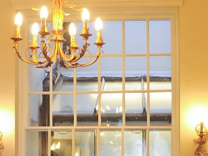 Beautifully thin 'muntins' on this period window