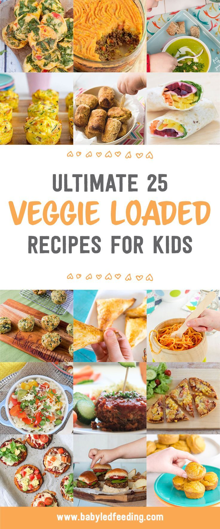 These 25 healthy vegetable loaded recipes are a perfect start to the New Year. Great for Baby led weaning, for healthy toddler food and the entire family too. via @https://www.pinterest.com/babyledfeeding