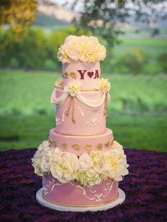 Wedding cake idea; Featured Photographer: Sonia Savio Photography, Featured Cake: Sweet on Cake